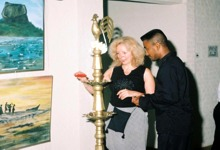The Chief Guest was Ms Pelle Sylviyane seen lighting the oil lamp at the opening ceremony.